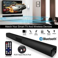 NEW Upgraded Deluxe Version Bluetooth Speaker Sound Bar 3D Stereo Surround Sound Music TV Computer Support