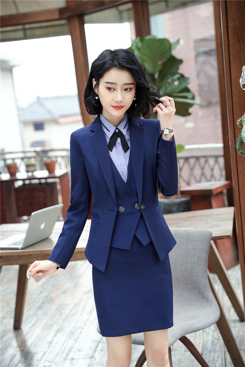 15c87fc10e Il Ufficio Uniformi 2018 Del Lavoro Blu Disegni Giacche Stili Donne ...