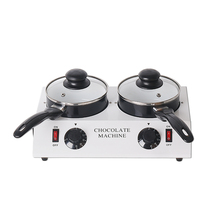 SUCREXU Electric Double Pot Chocolate Melting Dipping Machine Warmer Melter Non-stick Pan CE 110V 220V
