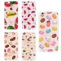 Пищу Фрукты Старбак s Ананас Lemon Banana Кактус Клубника Sushi Phone Case обложка Для Apple iPhone 4 5 6 7 S Plus SE 5C