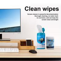 camera computer cell New Arrival Cleaning Wipes Crystal Screen Film Liquid For Camera Computer Cell Phone Screen Disinfection Wet Wipes 88 Pieces (2)