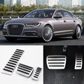 Brand New 3pcs Aluminium Non Slip Foot Rest Fuel Gas Brake Pedal Cover For Audi A6L AT 2010-2016
