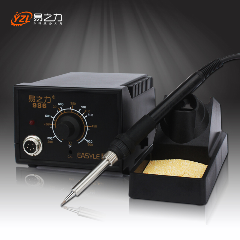 EU Plug 220V  50-60W Rework Soldering Station Thermoregulator Soldering Iron Hot Air Desoldering Gun Welding Tool Kit