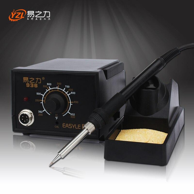 EU Plug 220V 50-60W Rework Soldering Station Thermoregulator Soldering Iron Hot Air Desoldering Gun Welding Tool Kit