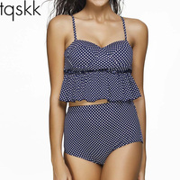 TQSKK 2017 New Fallbala Bikinis Women High Waist Swimsuit Push Up Bikini Set Swimwear Female Beach