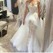 kejiadian 2019 Elegant Wedding Dresses with Court Train