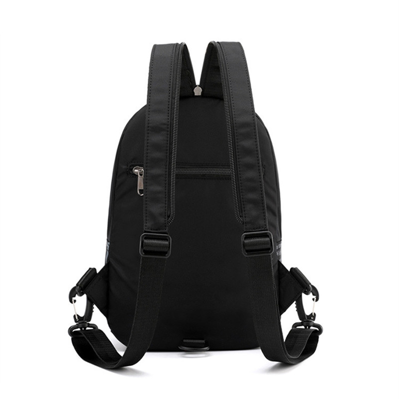 Image 4 - Street Brand Waterproof Headphone Cable Hole Small Backpack Men Shoulder Travel BagBackpacks   -