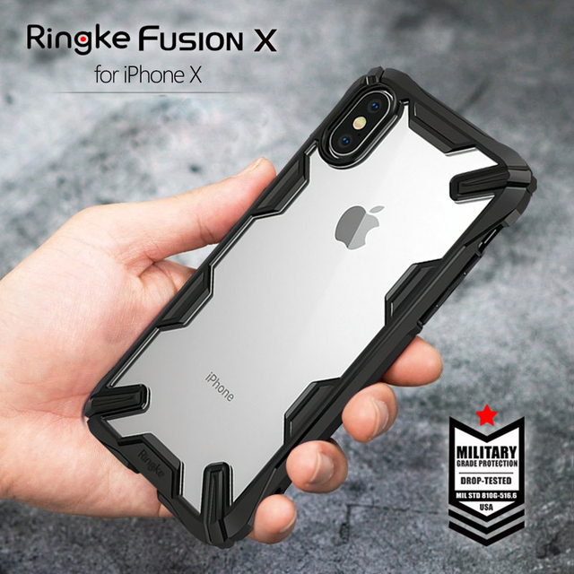 quality design e7ab5 1218f Ringke Fusion-X Case for iPhone X, XS, XS Max