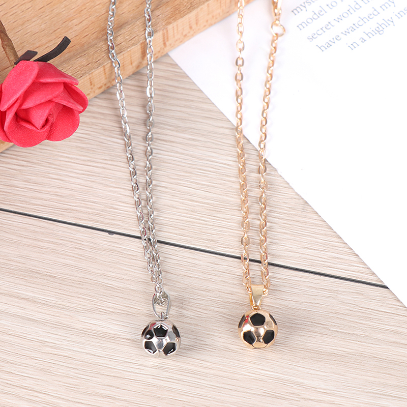 Sporty Necklace Football Pendant With Chain Soccer Necklace Men/Women Sport Ball Jewelry Gold /Siliver Color