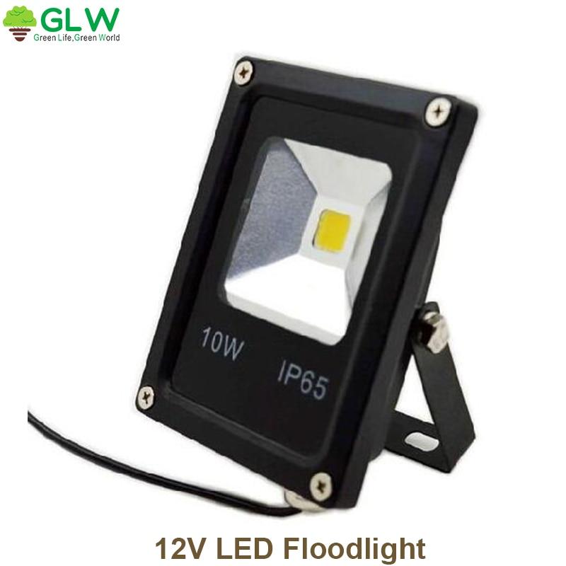 Ac/dc 12 v ip65 segurança à prova dwaterproof água projectores led 10 w ao ar livre conduziu a lâmpada do projetor jardim