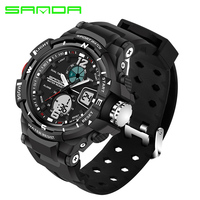 SANDA Brand Children Sports Watches Waterproof Fashion Casual Quartz Digital Watch Boys Girl LED Multifunction Wristwatches