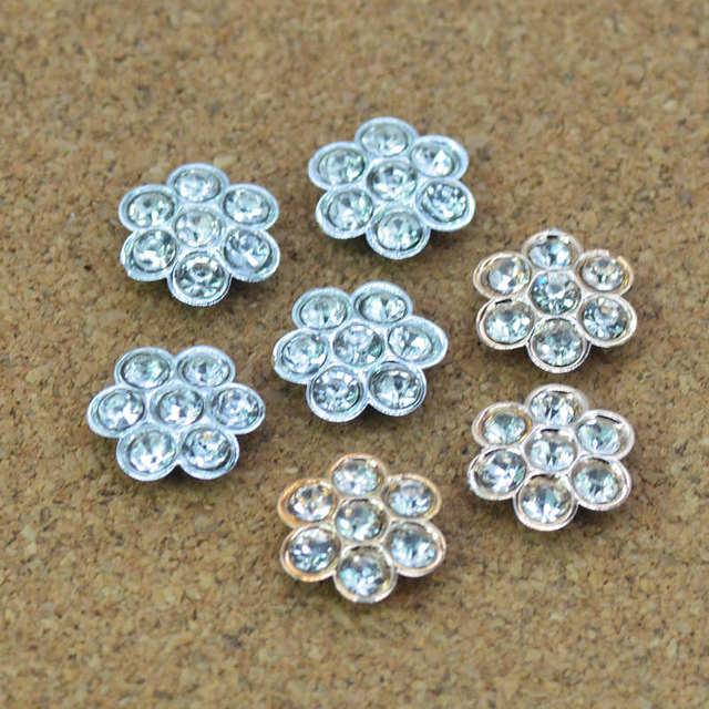 10PCS 24mm Golden Shining Pearls Flatback Garment Flower Buttons|Scrap-booking Flower Buttons|Sewing Button Topper