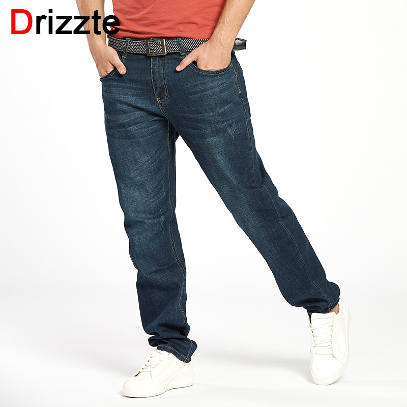 Drizzte Mens Casual Taper Jeans Trendy Stretch Relax Jeans Blue Denim Jean Trousers Pants 33 34 36 38 40 42 drizzte brand men stretch denim slim jeans black blue fashion trendy trousers pants size 33 34 35 36 38 40 42 for men s jean