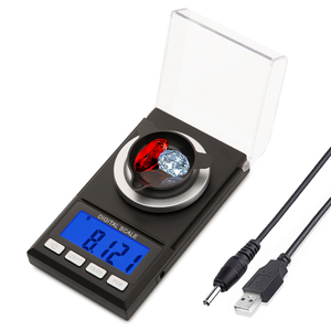 Image 5 - 0.001g Precision scales 100g /50g LCD Digital Scale for Jewelry Diamond Gold Medicinal Lab Milligram Gram Scale Electronic