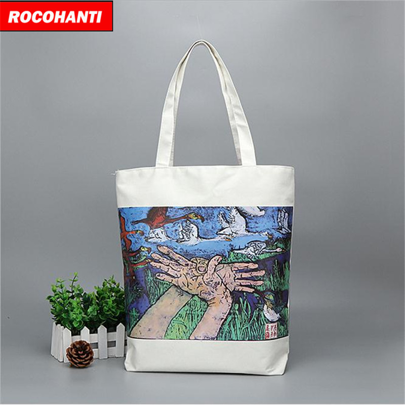 100PCS Beautiful Reusable Colorful Cotton Canvas Shopping Tote Bag With Zippered Closure Custom Logo Printed