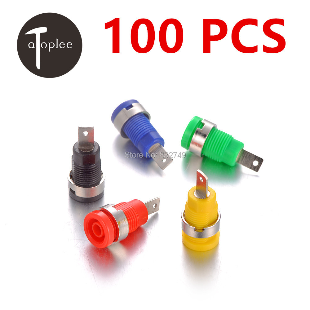 100 PCS Good Quality Binding Post Banana Jack Socket Panel Mount for Safety Protection Plug 5 Colors Free Shipping paresh davara and n c patel post harvest practices for banana followed in gujarat