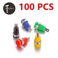 100 PCS Good Quality Binding Post Banana Jack Socket Panel Mount for Safety Protection Plug 5 Colors Free Shipping