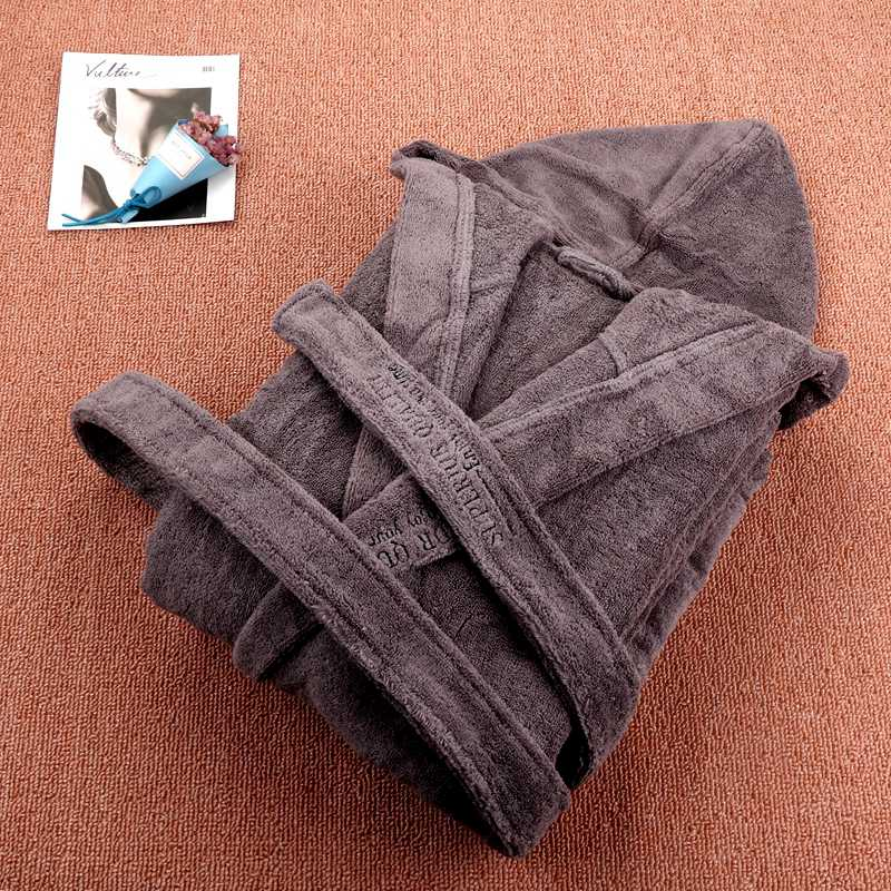 Winter Bathrobe Hooded Men Warm Soft Cotton Towel Fleece Long Plus Size 2XL Sleep Lounge Kimono Robe Male Dressing Gown Robes