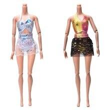 b420722e8 Sexy traje para barbie 2 unids set Encaje Honda falda Bragas brief bikini  para Barbies