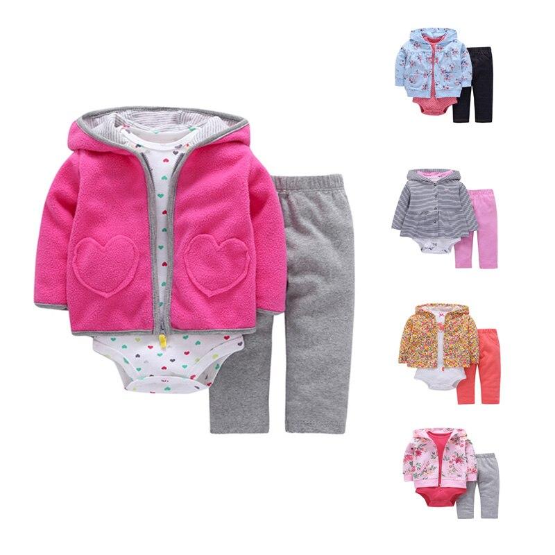 5369007bddde FREE SHIPPING Carter Baby Girls Clothing set 3pcs pack Bodysuit Hooded+ Long  Sleeve Bodysuit+Long Pants Bebes Boys set-in Bodysuits from Mother   Kids  on ...