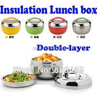 Freeshipping 1pcs Lot Apple Shape Stainless Steel Lunch Box Bento 2 Tier Locking Lid Lunch Container