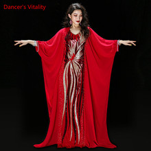 Mới Modal + Voan Thực Hành Mặc Bộ Nữ Múa Bụng Trang Phục Lễ Phong Cách Dance Váy Bụng Cuộc Thi Nhảy Dây