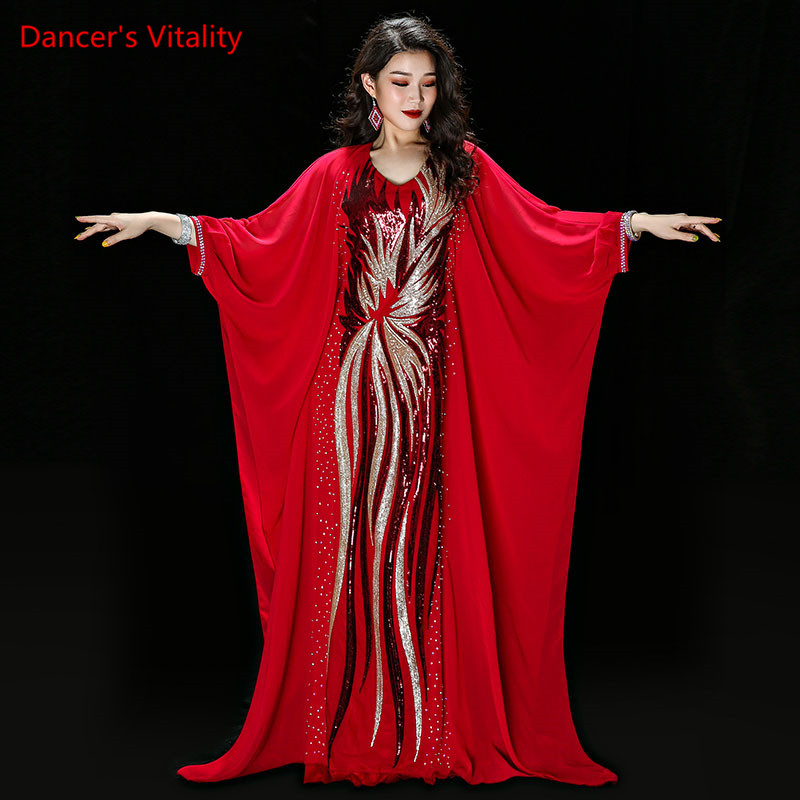 New Modal+Chiffon Practice Wear Set Women Belly Dance Costume Holiday Style Dance Skirt Belly Dance Competition Robe-in Belly Dancing from Novelty & Special Use
