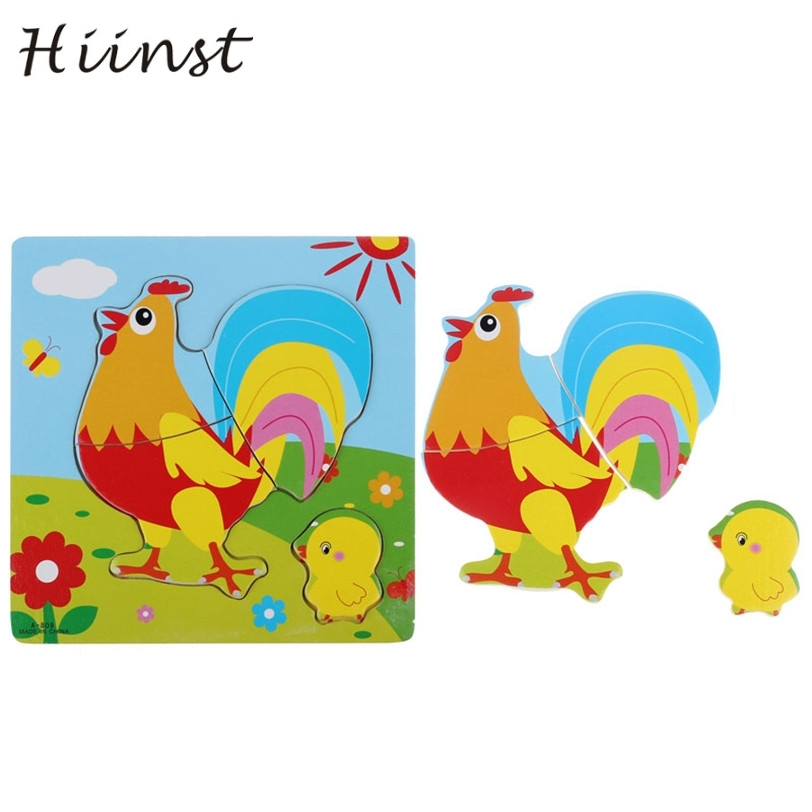 HIINST drop ship Wooden Puzzle Educational Developmental Baby Kids Training Toy Cock S50 Ag15 gift