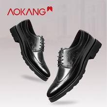 AOKANG 2019 Men dress Shoes genuine leather business men shoes