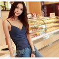 2015 Women Camis Sexy Fashion No In The Spring Cup Rims With A Chest Pad Camis Slim Sexy Female Backing Modal Camisole