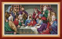 Needlework DIY Cross Stitch Set For Embroidery Kits Jesus Christ The Last Super Famous Cross Stitch