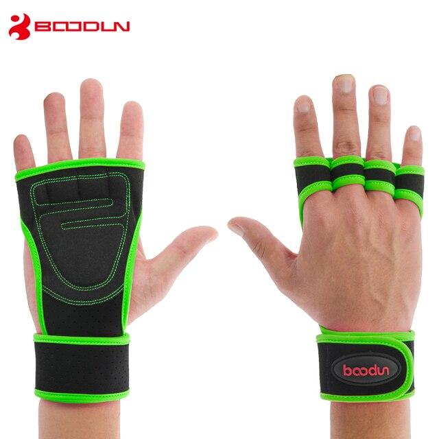 Boodun Sports Weight Lifting Gym Gloves Wrist Fitness Men Gloves Half Finger Dumbbells lifted Horizontal Palm Care Women Gloves