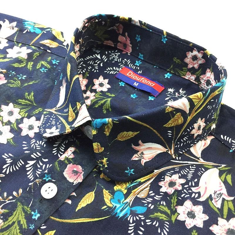 Dioufond Bohemia Kadınlar Bluzlar Uzun Kollu Gömlek Kadın Yaz Turn - Bayan Giyimi - Fotoğraf 4