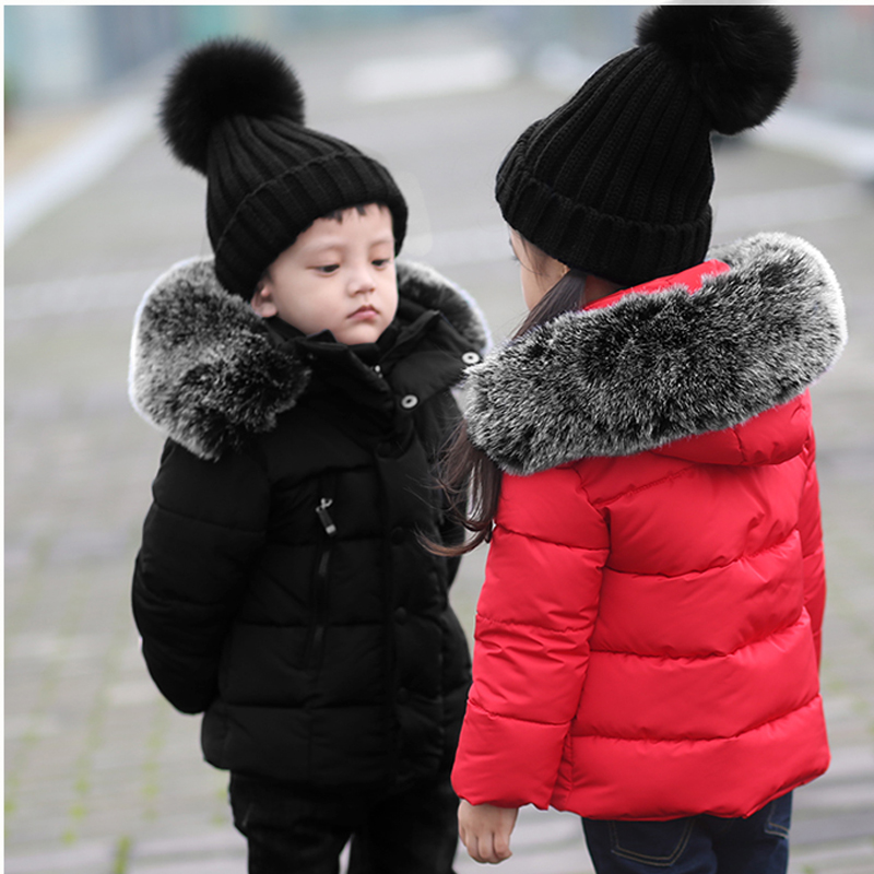 New girls boys long sleeve hooded jacket fashion winter fur coat high quality children's wool thick warm clothes 17A801 fashion new women winter coat 2017 fashion hooded thick super warm medium long parkas long sleeve hooded big yards jacket 7l85