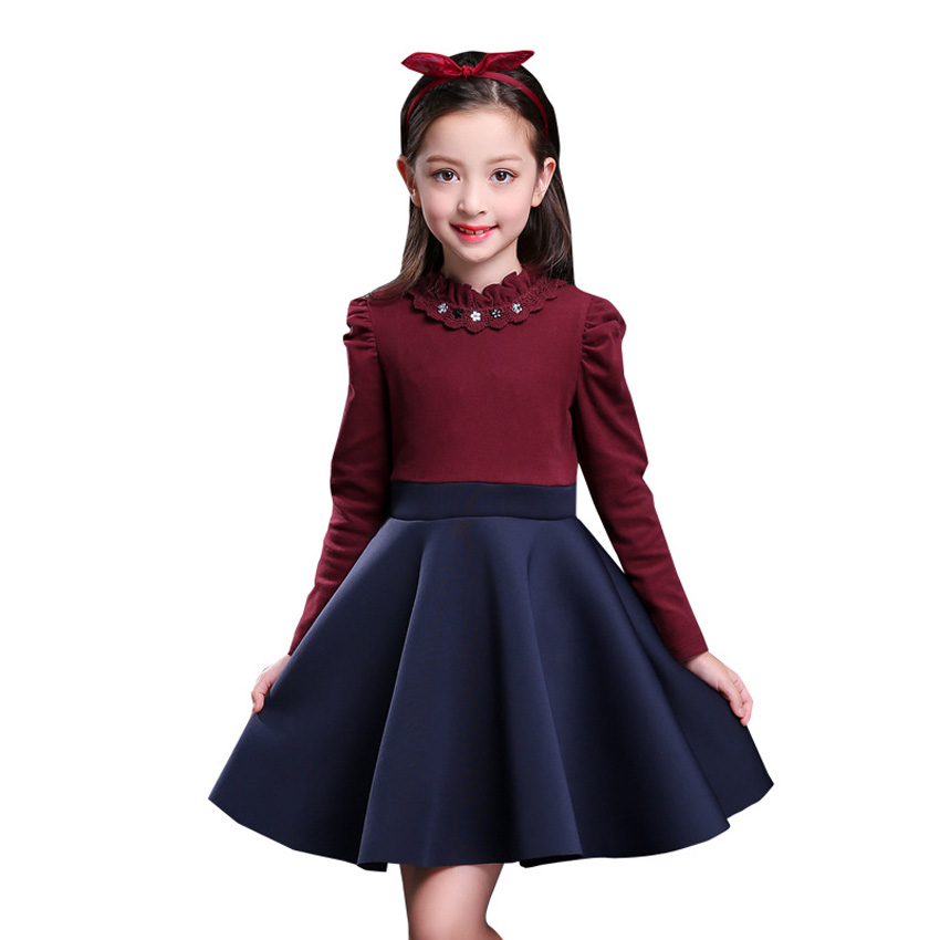 b7af087c9 Elegant Kids Designers Clothes Girls Dress Velvet Lining Autumn ...