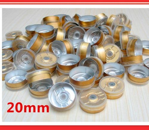 Free shipping 20mm aluminium-plastic caps,vial top is transparent,flip top cap