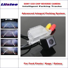 Liislee Rear Camera For Ford Fiesta / Kuga Galaxy Intelligent Parking Tracks Backup Reverse Dynamic Guidance Tragectory