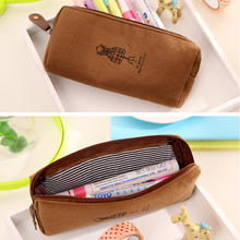 Retro Towers Linen Pencil Bag Students Paris Style Pencil Cases Stationery Material Escolar Office Supplies New Arrival