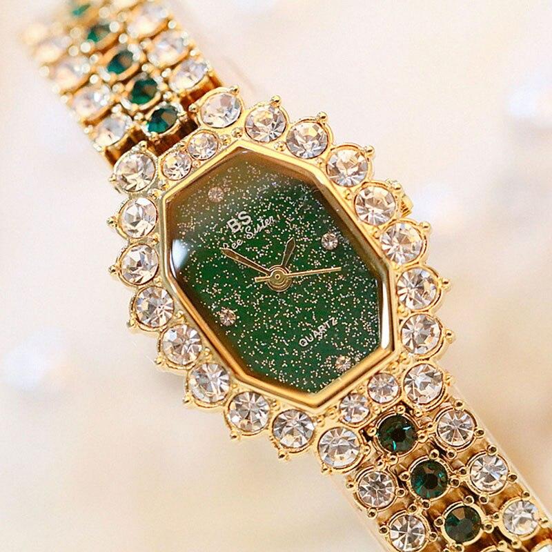 Luxury Women Watches Diamond Famous Brand Elegant Dress Quartz Watches Ladies Rhinestone Wristwatch Relogios Femininos
