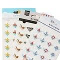 24 шт./лот DIY океан серии милые бумажные наклейки для фотоальбомов Отличная ручная работа рамка декоративная бумага для набор для скрапбукин...