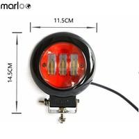 Marloo Car LED Work Light Lamp 12V 24V LED Light Bar Offroad 30W 6000K Motorcycle Lamp Off Road LED Fog light For Lada Niva 4X4