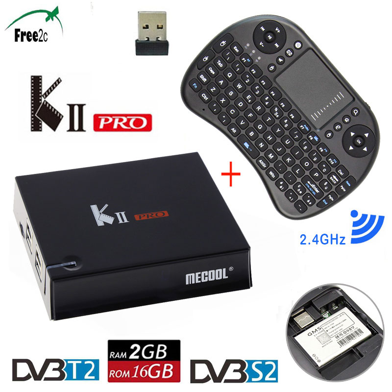 KII Pro DVB-T2 Quad-core 2GB/16GB Android7.1 Smart DVB-S2 K2 PRO Top Box support Europe French IT IPTV 2500+LIVE TV Channels