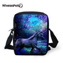 WHOSEPET Crossbody Bags For Women 2017 Unicorn Printing Small Handbags Messenger for Ladies Girls Fashion Shoulder Bag Hot