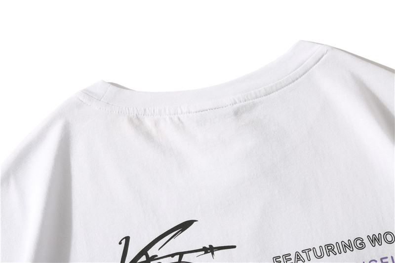 Dark Icon Side Split Fluorescent Green T-shirt with Messenger Bag Hiphop Tshirt Men Cotton Tee Shirts Streetwear Clothing 50