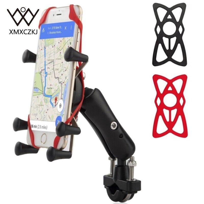 imágenes para Motocicleta Universal Para Bicicleta MTB Bicicleta Soporte para Teléfono Ajustable Rail Mount/X-Grip Soporte Para Teléfono Para iPhone Para Samsung Para GPS