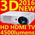 Большие скидки новые 2016 из светодиодов мини видео 1080 P 3D TV проектор для домашнего кинотеатра Full HD Proyector лучемет Projetor высокая яркость
