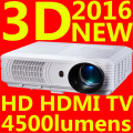 Big Discount Newest 2016 LED Mini Video LCD 1080P 3D TV Home Theater Projector Full HD Proyector Beamer Projetor high bright