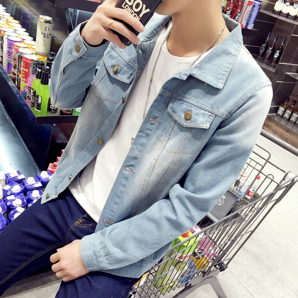 2017 new arrival Denim Jacket Men Fashion brand clothing Jeans Jackets Male Spring Autumn Casual Clothing
