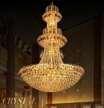 Большой современный led люстра роскошные K9 Золотой хрустальный канделябр осветительные люстры де cristal высококлассные Хрустальная люстра