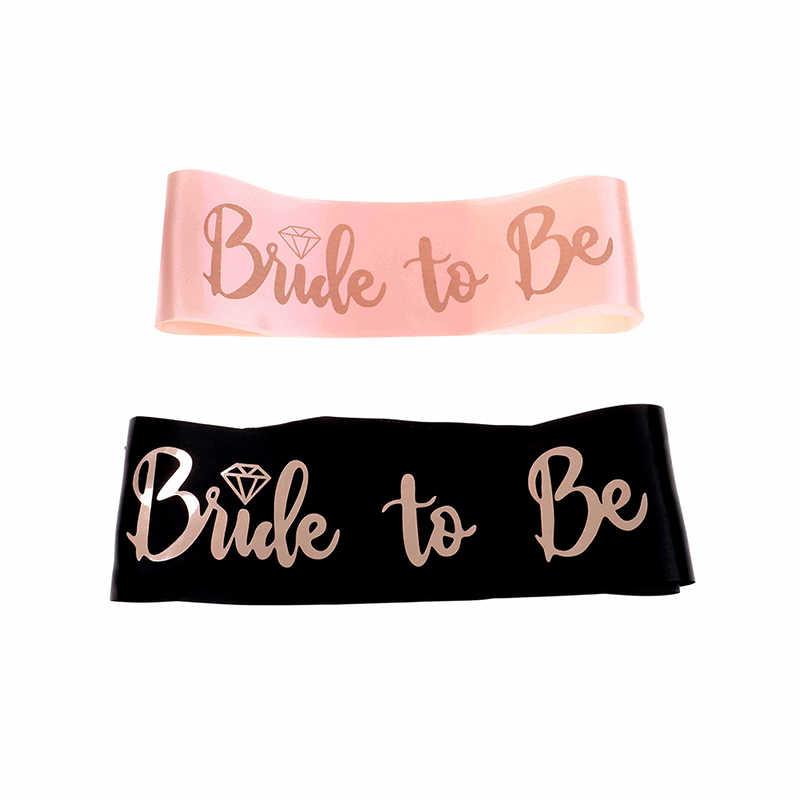 Diamant Rose Gold Braut Zu Werden Schärpe Tiara Stirnband für Hochzeit Bachelorette Party Braut Dusche Dekoration